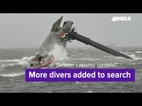 Seacor Power capsize update: More divers were added to the search for 9 missing crew members