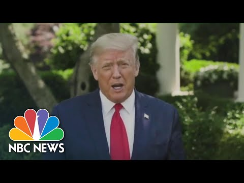 Trump To Global Vaccine Summit: 'Let's Get The Answer' To Defeating Coronavirus | NBC News NOW