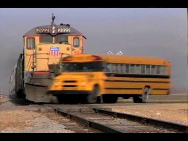 School Bus Train Crash Otto S Tips For The School Bus Driver Youtube