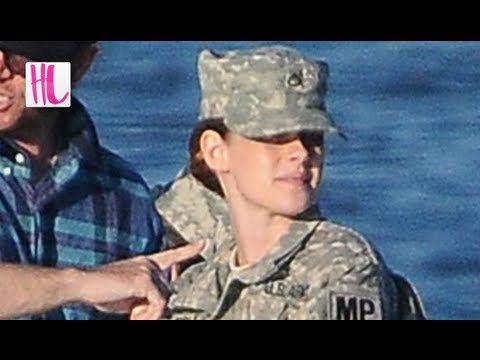 Kristen Stewart Spotted Wearing Sexy Military Outfit For 'Camp X-Ray'