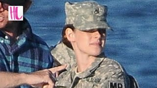 Kristen Stewart Spotted Wearing Sexy Military Outfit For