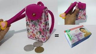 Ide Kreatif Dari Box Bekas Sabun Mandi    Cara Membuat Dompet Koin dari Box Sabun Mandi