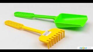 Обзор - распаковка игрушек Песочный набор лопата и грабли Замок WADER Арт: 39025