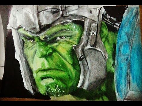 Dibujo Hulk Realista (thor Ragnarok) / Speed Drawing/ Educc_draw Vs Alberto Drawing) - YouTube