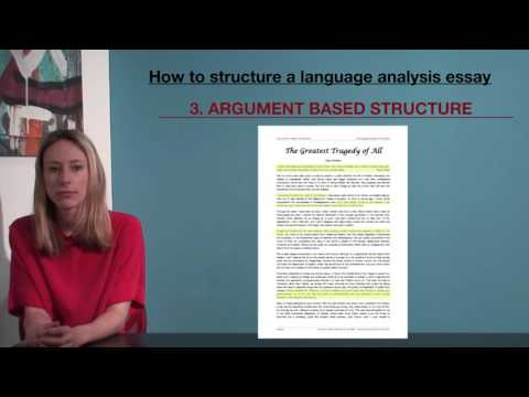 VCE English - How to structure a language analysis essay