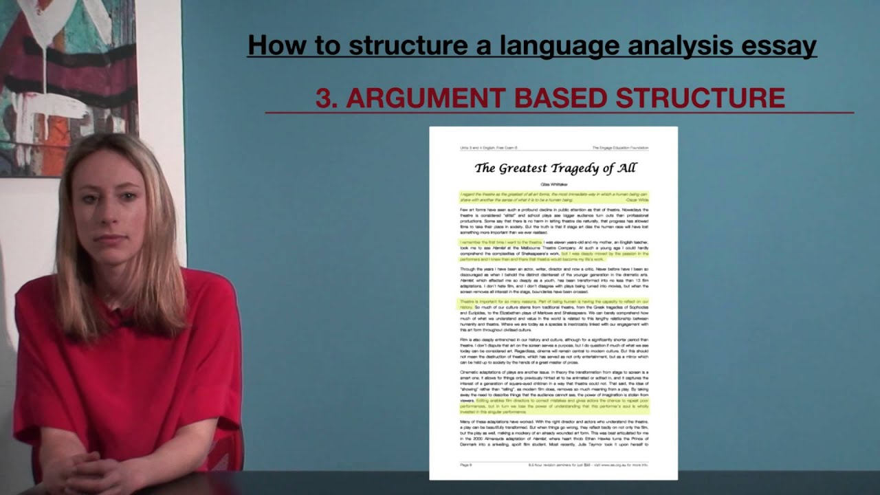 vce english how to structure a language analysis essay