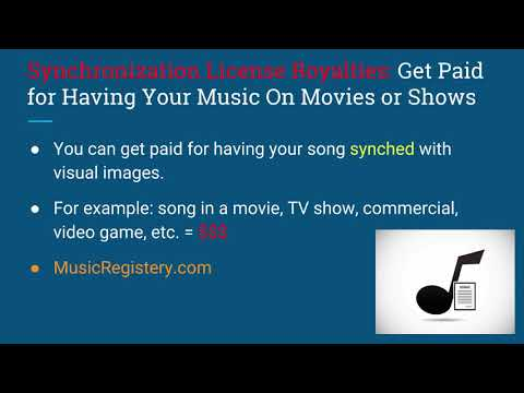 16  #5 Synchronization License Royalties Get Paid for Having Your Music On Shows Mp3