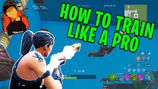 How to train Fortnite like a PRO - Training Map! Aim, Edits, and Builds