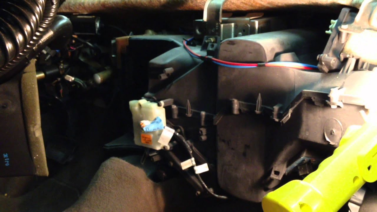Cabin Wiring Diagram No Heat Ford Taurus Heater Core Removal Youtube