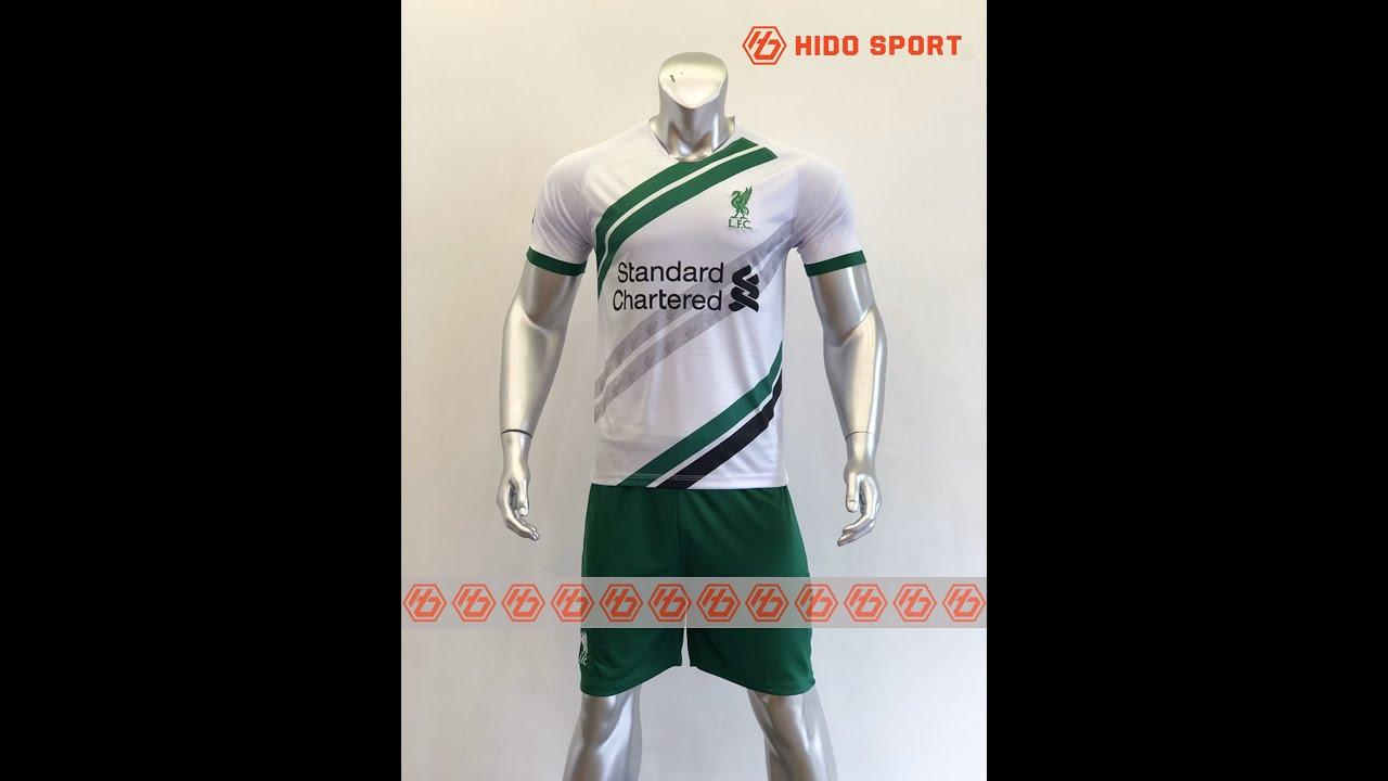 Quần áo bóng đá CLB LIVERPOOL màu TRẮNG   đồ đá banh mới 2019-2020