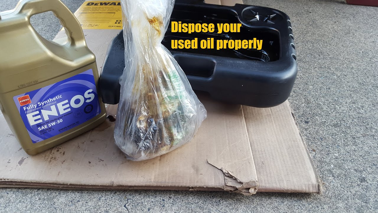 Dispose of your used motor oil properly youtube for How to dispose of motor oil