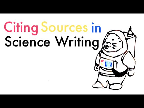 Citing Sources In Science Writing