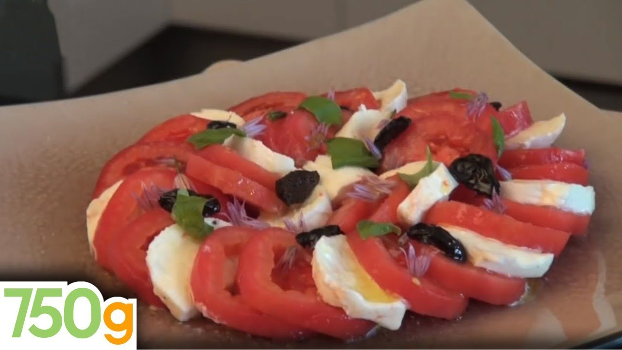 recette de tomates mozzarella - 750 grammes - youtube