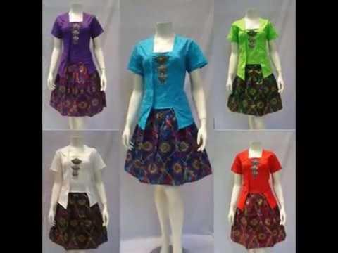 20 Model Dress Batik Natal Terbaru Dress Batik Kerja Modern Dress Batik Wanita Bb 576adc92