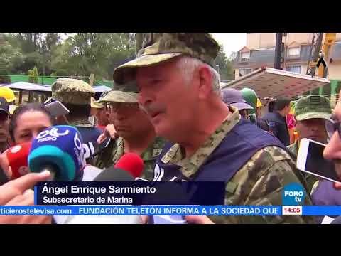 La Marina anuncia que no hay niños bajo los escombros de la escuela Rébsamen