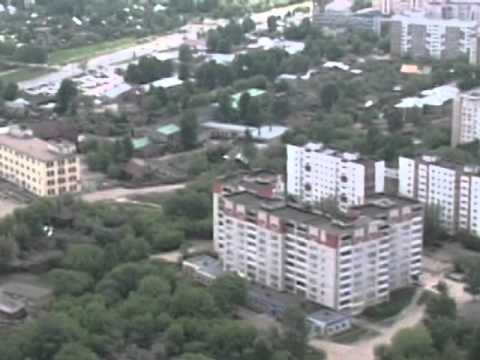 Полет  на самолете над городом Иваново