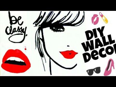 DIY Wall Decor   Fashion Wall Art    Easy DIY   ArtsyAkanksha  💋💄👠🕶