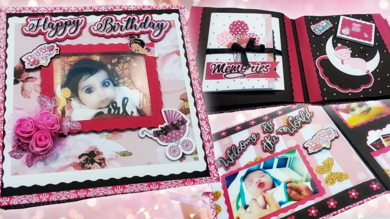 Scrapbook for Baby Girl | 1st Birthday Scrapbook for baby | Baby Shower | Scrapbook for Baby theme
