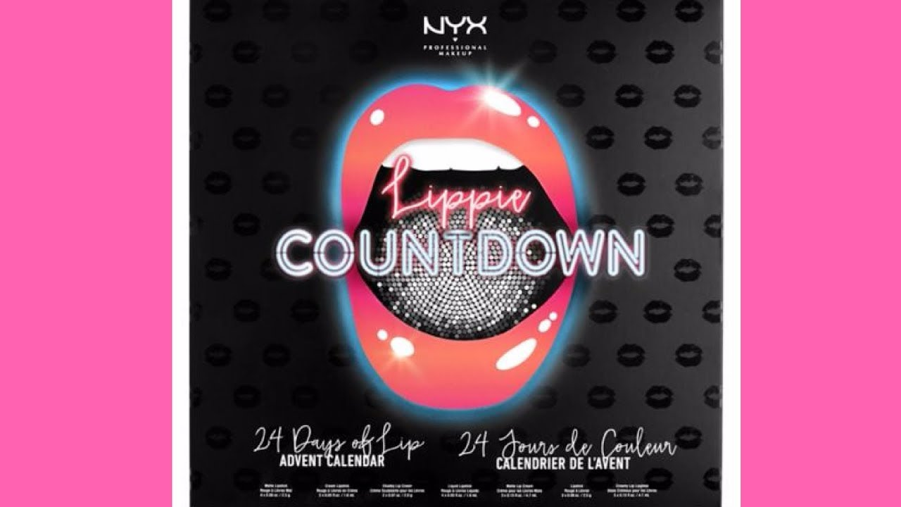 Calendario Nyx.Spoiler Nyx Lippie Countdown Advent Calendar Full Unboxing