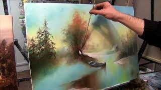 Зимний пейзаж маслом  Урок рисования для взрослых с нуля 79857776200