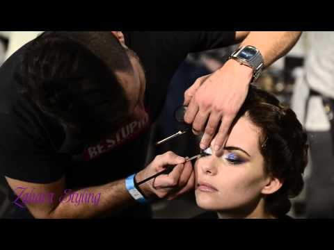 Zahara Styling Backstage impression Fashionshow Maroc Expo 2013