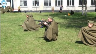 Вместо обычного урока истории для учащихся школы-интерната Куйбышевского района провели военную игру