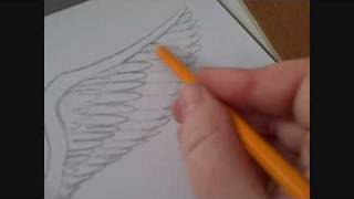 How To Draw An Angels Wing Video(Draw fantasy stuff - http://www.waynetully.com Draw an angels wing, an easy way to draw a bird like angel wing step by step. Just watch the art video and sketch ..., 2010-04-19T15:45:39.000Z)