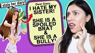 STOLE MY SISTER'S DIARY & FOUND HER BIG SECRET! - Roblox - Royale High School