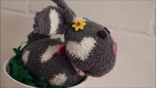 DIY: Osterhase aus Socken liegend / ohne nähen / Basteln zu Ostern
