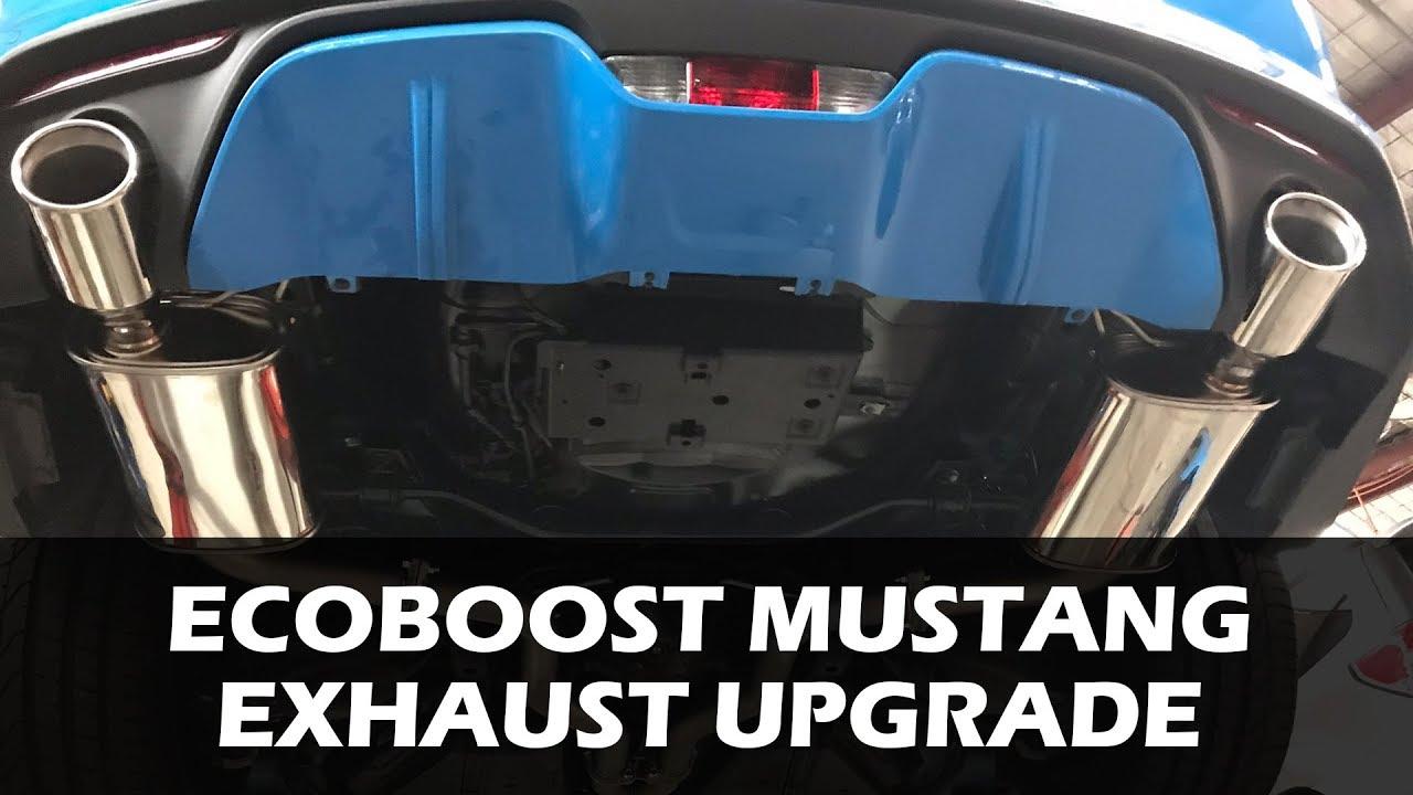 mustang ecoboost exhaust upgrades