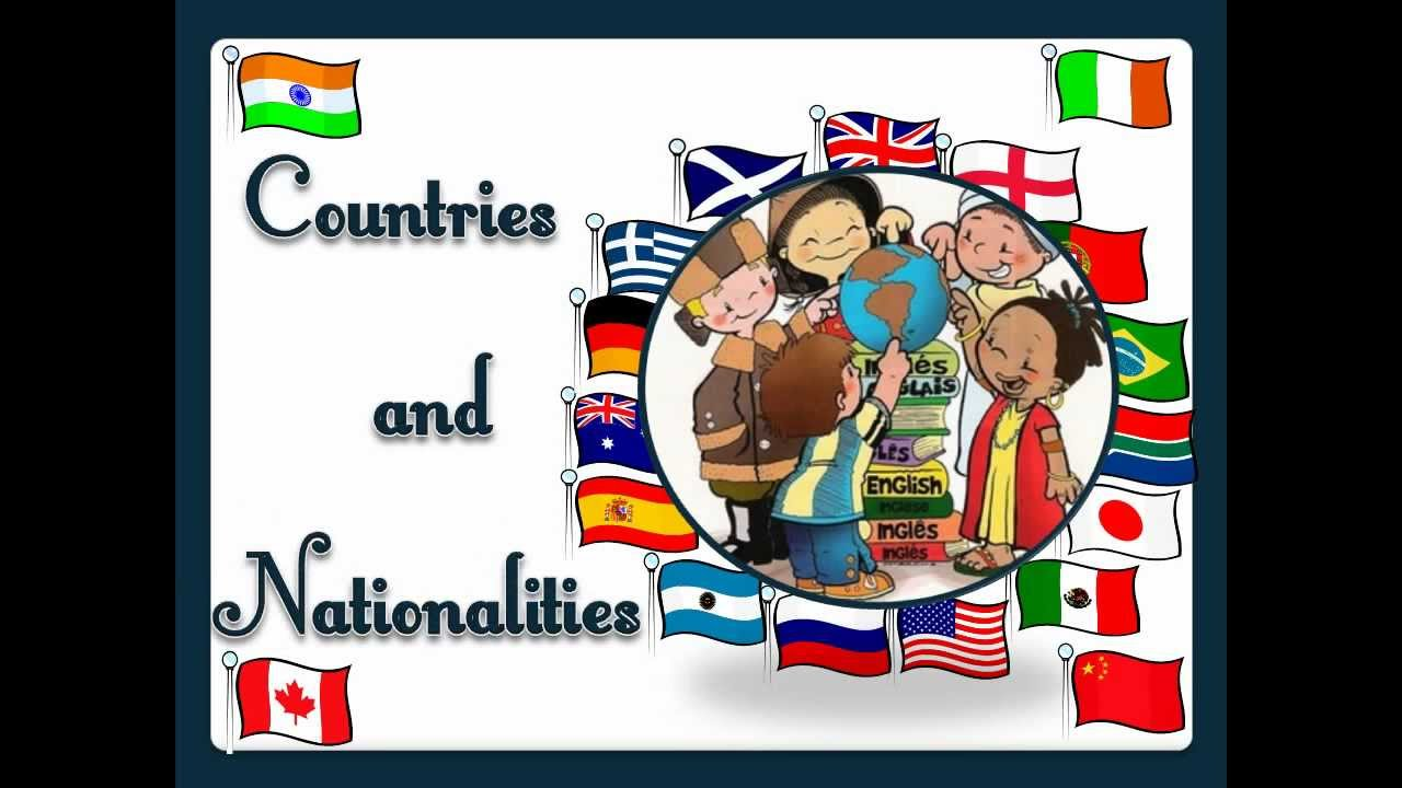 medium resolution of Countries and Nationalities - English Language - YouTube