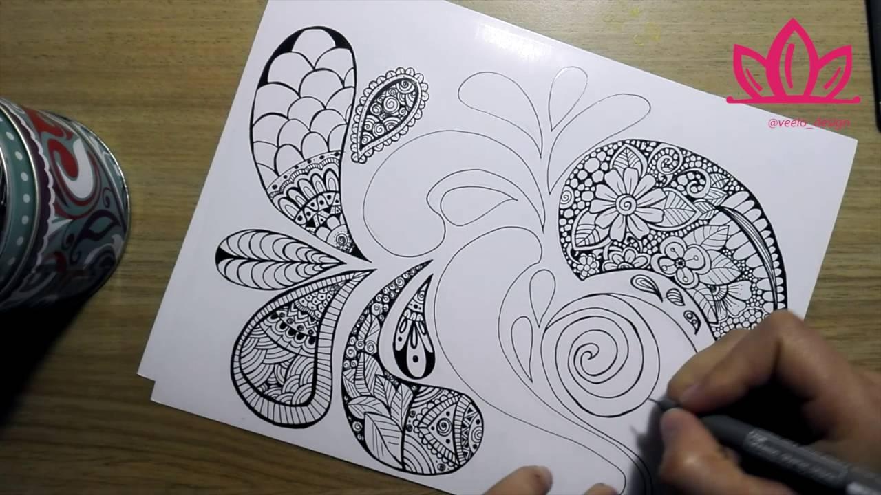 Zentangle Art Paso A Paso New Ideas Youtube