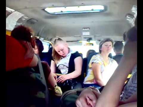 Пьяные телки на в автобусе
