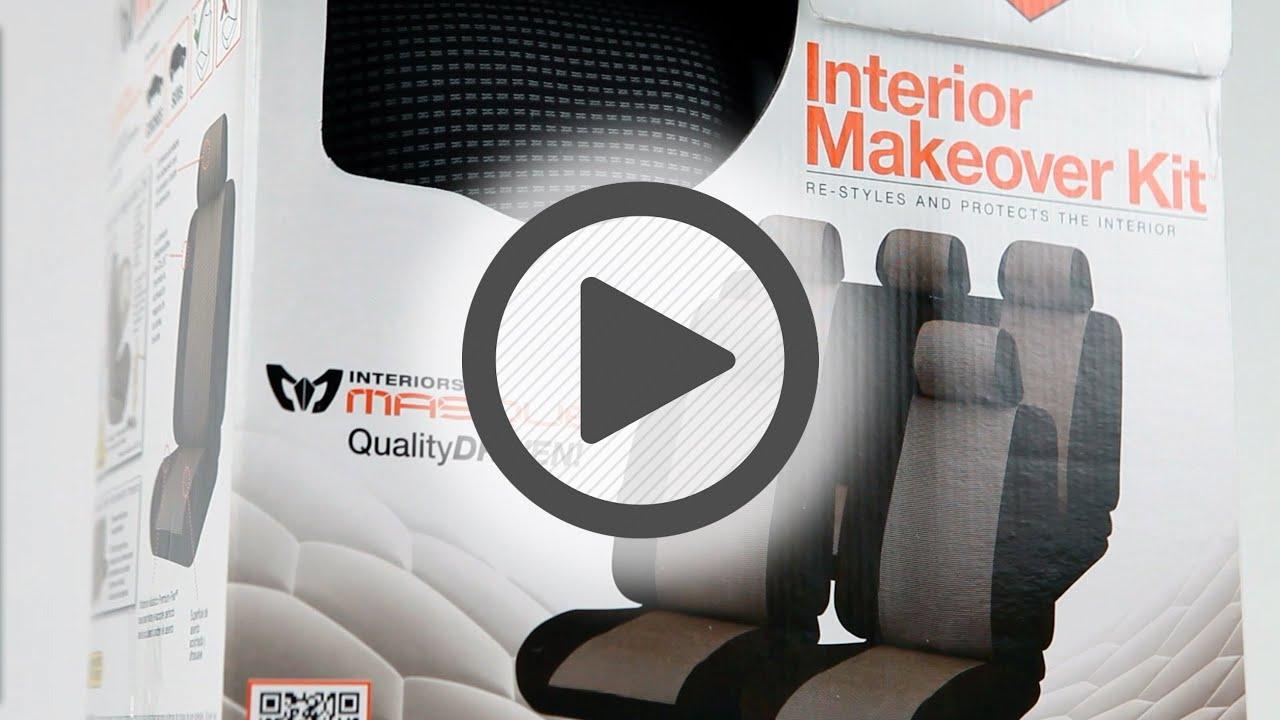 Masque Monaco Grey Amp Black Seat Cover Set Pep Boys Youtube