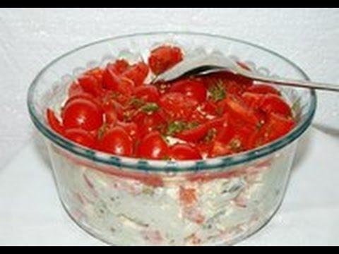 как приготовить салат красная шапочка с помидорами с фото