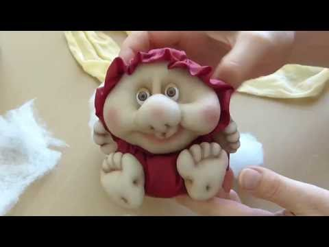 Кукла неваляшка из колготок, из капрона. Doll from stocking, Roly-poly doll.