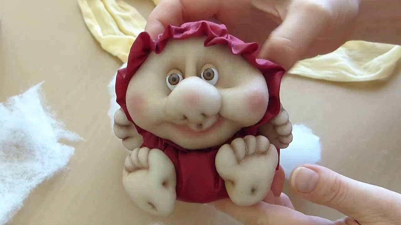 Как сделать из носок куклу видео фото 665