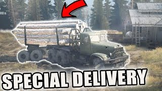 WE MADE IT | DELIVERING LUMBER | MONDAY MUDDING | SPIN TIRES MUDRUNNER