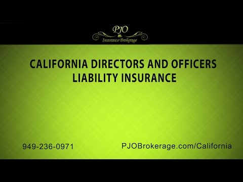 California Directors and Officers Liability Insurance by PJO Insurance Brokerage