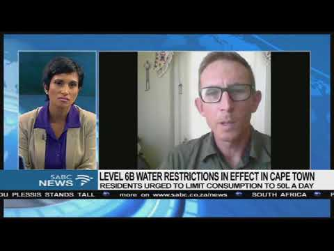 Level 6B water restrictions in effect in Cape town