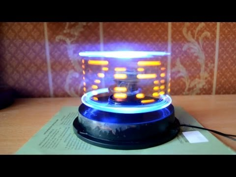 Persistence of vision led clock