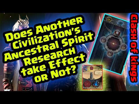 Does Other Civilization Ancestral Spirit work ? - Clash of Kings