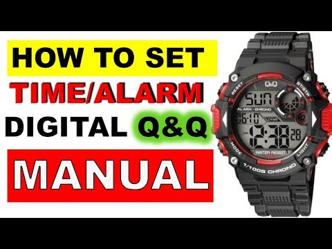 How To Set Time And Alarm On Q&Q Digital Watch