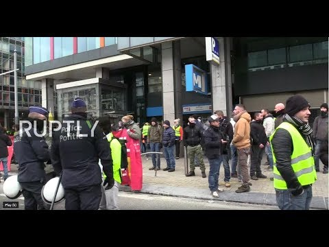 LIVE: Anti-government protest hits Brussels