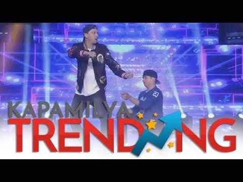 D-Trix and Matt Steffanina perform on It's Showtime stage