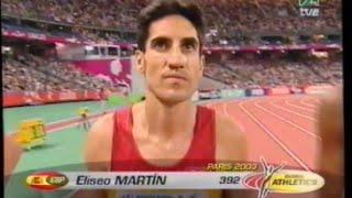Eliseo Martín bronce mundial en Paris 2003 en los 3000m obstáculos