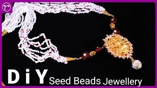 DIY Multilayer Seed Beads Necklace Making   Handmade Jewellery Making   Rubeads Jewelry