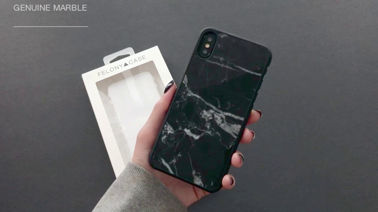 new styles aef39 7fc05 FELONY CASE // Genuine Black Marble Case for iPhone X - Unboxing and  Application Tutorial