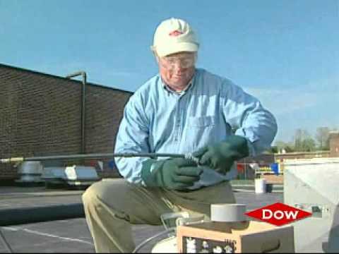 Применение полиуретанового герметика при помощи пистолета - YouTube