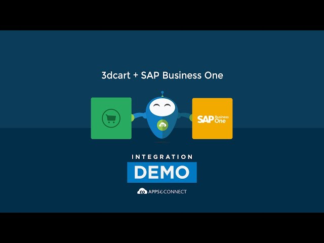 Integrate 3dcart and SAP Business One | APPSeCONNECT